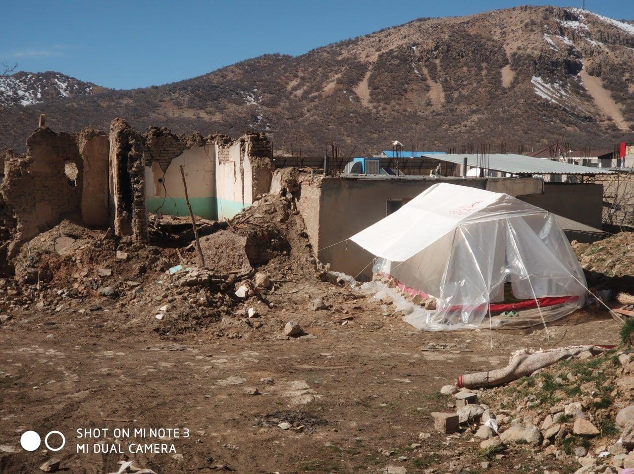 کمک به زلزله زدگان سی سخت