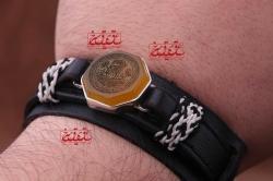 دستنبد مردانه _ پشت نگین حرز کبیر آقا امام جواد علیه السلام روی پوست آهو